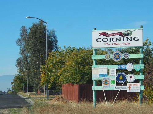 Corning city sign