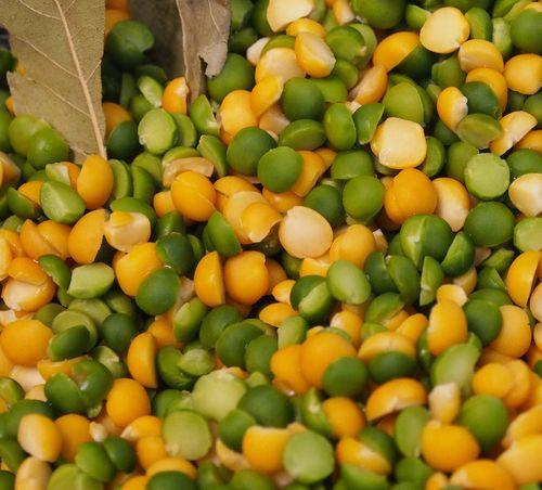 Peas closeup